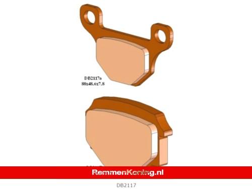 Delta Braking Remblok Set Type DB2117 o.a. Aprilia RS4 (Achter) / Motorhispania RX50R (Achter) / Rieju MRT Pro (Achter) / TGB 101/202/409/Corona (Voor)