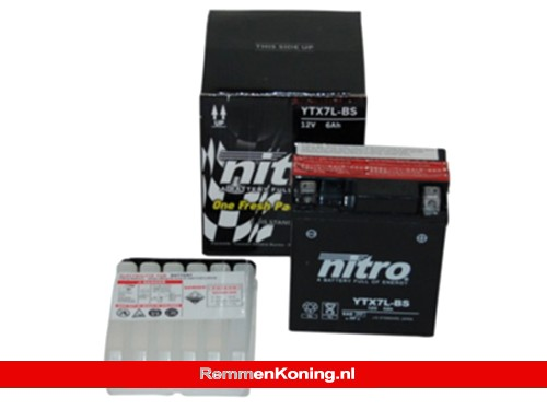 Nitro Accu NTX7L-BS (YTX7L-BS) o.a. Vespa Primavera/Sprint / Piaggio Fly 2012