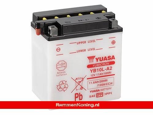 Yuasa Accu YB10L-A2 Open Zonder Zuur