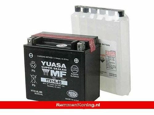 Yuasa Accu YTX14L-BS + Zuurpakket