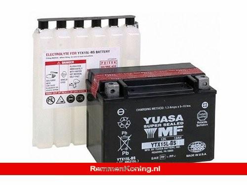 Yuasa Accu YTX15L-BS + Zuurpakket