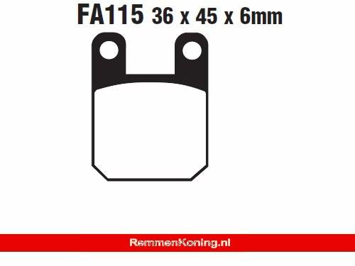 EBC Remblok Set Type FA115 HH Sintered