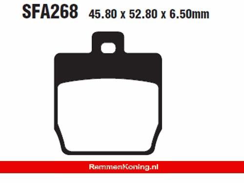 EBC Remblok Set Type FA268 Organisch Scooter