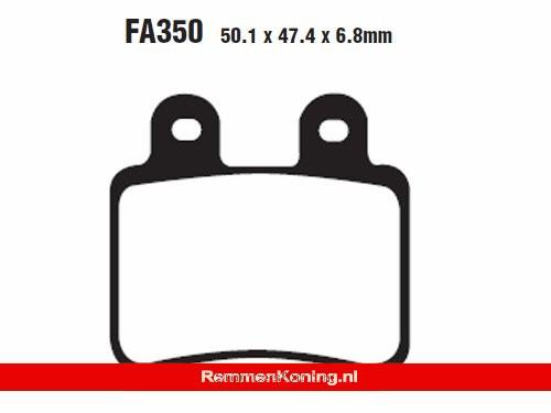 EBC Remblok Set Type FA350 Kevlar