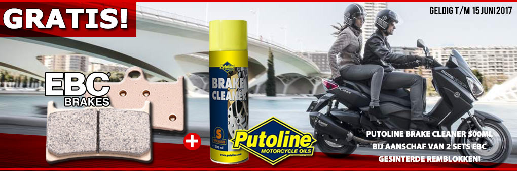 Gratis Putoline brake cleaner 500ml